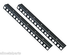 6U PAIR OF  RACK STRIP RAILS MADE FROM 1.2mm MILD STEEL  24.2mm x 19.2mm