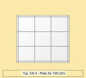 CD Regal aus Acryl / Plexiglas® Platz für 135 CD's -CD4