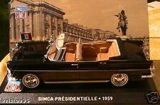 SIMCA PRESIDENTIELLE 1959 1/43 IXO CHARLES DE GAULLE