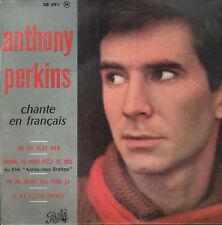 45T EP: Anthony Perkins: ne dis plus rien + 3 titres. pathé