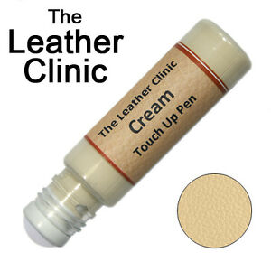 CREAM Leather Paint Touch Up for Sofa Car Shoes Handbag & more.