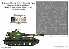 Digital Camo Paint Mask Ukraine 2s3 152mm Howitzer Camouflage DN Models 1/35