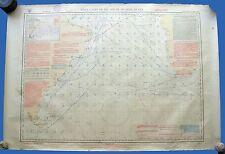 ANTIQUE NAUTICAL MARITIME PILOT CHART Sth ATLANTIC OCEAN 1915 CAPE HORN US NAVY