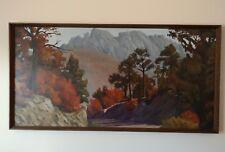 Original Painting  WESTERN LANDSCAPE LARGE SIGNED BAUER