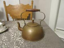 VINTAGE COPPER TEA POT OLD DUTCH MADE IN PORTUGAL WOODEN HANDLES