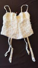 RAVAGE Bustier guêpière ROSIER blanc taille 2 bonnet B