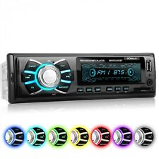 RADIO DE COCHE 7 COLORES BLUETOOTH MANOS LIBRES USB SD AUX 1DIN AUTORADIO