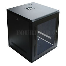"12U IT Wall Mount Network Server Data Cabinet Rack Locking Lock & Key - 24"" Deep"