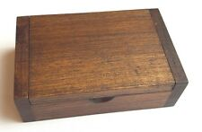 Teak Wood Wooden Trinket Box Storage Name Card Natural Color Free Shipping