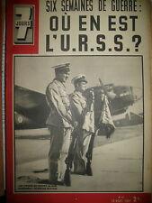 N° 41 AVIATION GROUPE I/39 SYRIE PIE XII URSS GUERRE FRONT DE L'EST 7 JOURS 1941