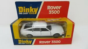 DINKY180 VINTAGE DIECAST ROVER 3500 WITH BOX