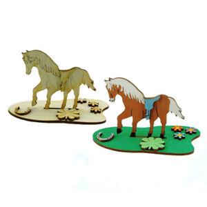 Kreativ Set für Kinder, Pferd aus Holz, zum Kindergeburtstag Bastel Set aus Holz