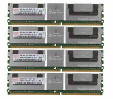 4X 4GB 2RX4 PC2-5300F DDR2 667MHZ ECC Server Fully Buffered FB-DIMM Memory @11H
