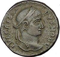Crispus Constantine the Great son 319AD Ancient Roman Coin Sucess Wreath i52736