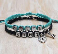 Key & lock Couples Bracelet  King Queen Bracelet  Loves Bracelet Christmas gifts