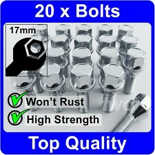 20 x ALLOY WHEEL BOLTS FOR RENAULT CLIO MK4 (2012+) M12x1.5 LUG STUD NUTS [H50]