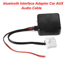 1x Car Black 12V Cable Adapter Aux Audio Bluetooth For Mazda M6 M3 RX8 MX5 Parts