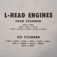 Continental 4 & 6 Cylinder L Head Engines Operator's & Maintenance Manual