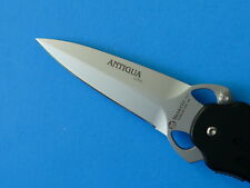 Maserin Italy ANTIGUA Black Folding Boot Knife 230 NEW Aluminum Tactical Dagger