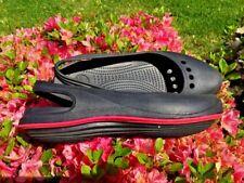 CROCS Black Diva Pink Comfort Soles Sandals Clogs Loafers Womens Shoes Sz 11 💖