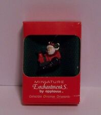 Santa Claus in Train Engine Christmas Ornament Miniature Enchantments Applause
