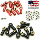 20PCS M3 Metal Tie Push Link Rod End Ball Joint Head Bearing For RC Crawler Car