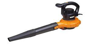 WORX WG518 Electric Blower Mulcher Vac 12 Amp 160-250 MPH 400 CFM