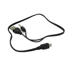 Useful USB to Mini USB B 5 Pin to 3.5mm AUX MP3 Speaker 2 in 1 Charging Cable XC