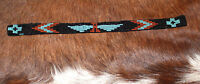 Western Vintage Beaded Hatband Stretch Multi Cowboy Rodeo Hat Band Jeans Dress C