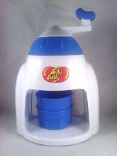 Jelly Belly Manual Crank Ice Shaver Snow Cone Slushy Maker. Blue w/ 2 cups