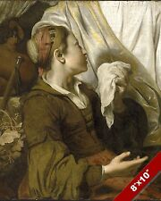 HAGAR MOTHER OF ISHMAEL WEEPING PAINTING ABRAHAM BIBLE ART REAL CANVAS PRINT