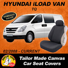 Canvas Car Seat Covers Fit HYUNDAI iLOAD I-LOAD i-LOAD 2008-Current Airbag Safe!