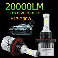 200W 9008 H13 LED Headlight Light COB Kit Low Hi/Lo 20000K White Bulb Lamp HXP