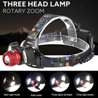 15000Lm 3x XML T6 Rechargeable Headlamp HeadLight Torch USB Lamp+18650 + Charger