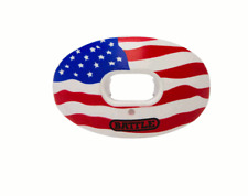 Battle Sports Oxygen Convertible Mouthguard with Lip Guard American Flag