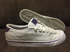 2011 NIKE RETRO/VINTAGE SIDE LACE SZ 10 US WHITE/PURPLE/CANVAS