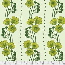Triple Take - New Buttercups Free Spirit Cotton Quilt Fabric PWAM020  Lime