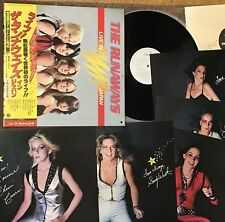 Promo THE RUNAWAYS Live In Japan JAPAN LP RJ-7249 w/OBI+5 POSTERS NM wax White