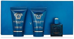 Versace EROS Mini 3 Piece Gift Set  Shower Gel  Aftershave Balm  Aftershave BNIB