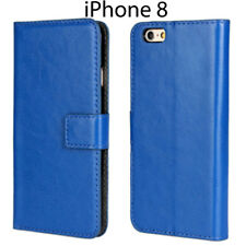 For iPhone 8 Executive Leather Wallet Flip Stand Card Case Cover Skin Protector