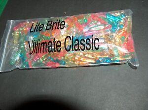 "Lot of 200 Vintage Lite Brite Long PEGS 1 1/8"" Light Bright - 8 Colors"