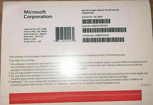 MS WINDOWS 10 PRO 64 BIT DVD + PRODUCT KEY FACTORY SEALED