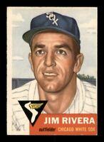 1953 Topps Set Break # 156 Jim Rivera NM *OBGcards*