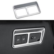 For Jaguar XE 2016-2019 Matte Silver Electric Tailgate Door Button Frame Trim