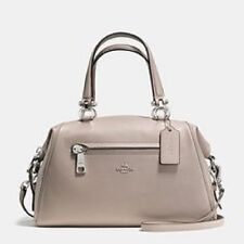 New Coach Primrose Satchel Leather Grey silver 37934 satchel bag tote carryall