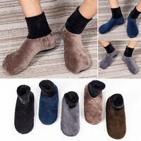 Unisex Winter Warm Home Soft Fleece Thick Bed Sock Non Slip Slipper Floor Socks
