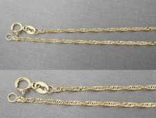 Singapurkette glänzende Goldkette 585 gedreht 45 cm Halskette Gold Collier