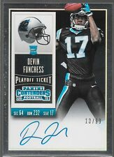 2015 Contenders Playoff Ticket Auto Rookie RC Devin Funchess /99 211 Panthers