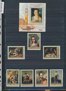 XC66328 Hungary paintings art fine lot MNH