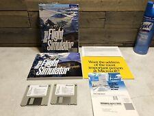 "1993 Vintage Game Boxed - Microsoft Flight Simulator - PC 3.5"" Disk MS-DOS"